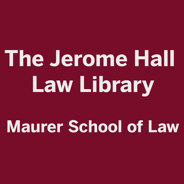 Logo of the Jerome Hall Law Library.